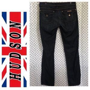 Hudson dark wash straight leg jeans